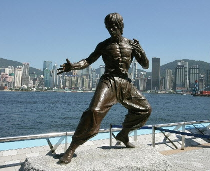 Statuie Bruce Lee Hong Kong